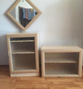 Шкаф напольный+навесной+зеркало