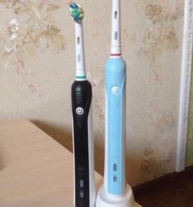 Электрические зубные щетки семейная пара