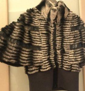 Накидка-курточка кролик под шиншиллу