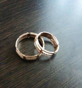 Зототые кольца обручальные