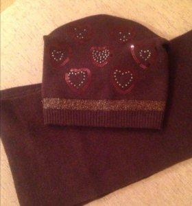 Комплект шапка+шарф