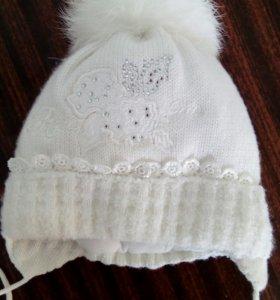 Шапочка зимняя на новорожденного ребёнка
