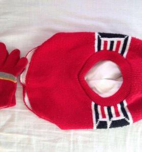 Комплект шлем и перчатки