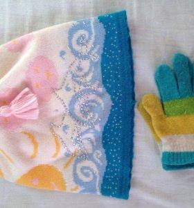 Комплект шапочка и перчатки