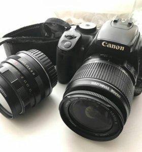 canon 400d +2 объектива