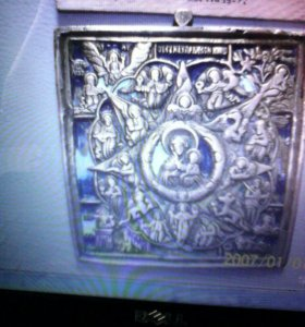 Бронзовая икона Неопалимая Купина