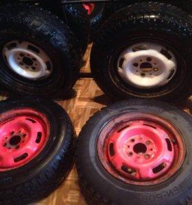 Зимние шипованные колёса