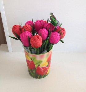 Цветы с конфетами!