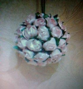 Украшение для Гардин «Шарик из роз».