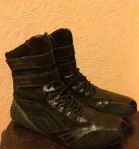 Ботинки без молнии.
