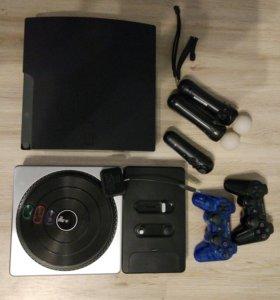 PS3 + 40 дисков + игры на hdd.
