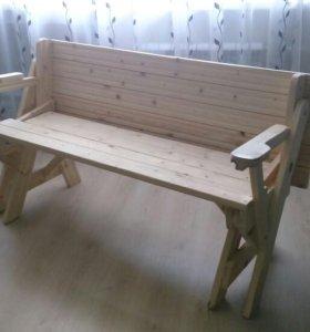 Стол-скамейка трансформер 2-в-1.