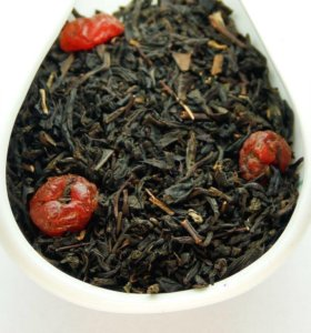 Черный ароматизированный чай Дикая вишня