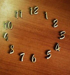 Набор цифр для часов