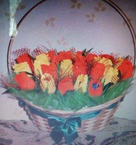 «Тюльпаны в корзине»