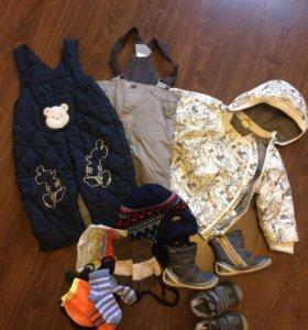 Пакет одежды и обуви на мальчика 68-74-80