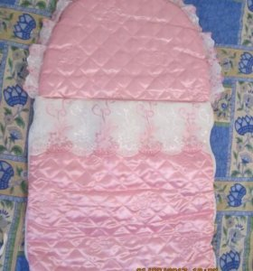 Конверт на выписку с одеялом