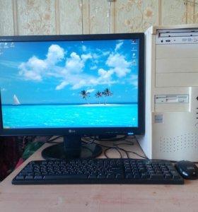 Компьютер с ЖК монитором на 22'