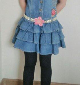 Платье джинсовое.8-10лет