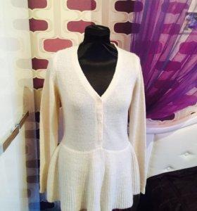 Новая кофта Zara шерстяная женская белая