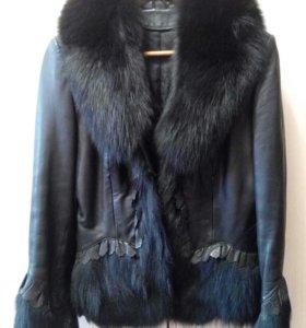Курточка натуральная кожа и мех