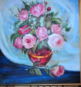 Картина Пиоины в Вазе