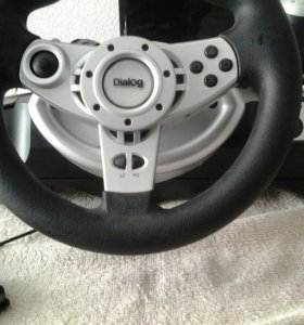 Игровой руль с пидалями