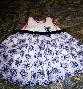 Платья и юбочка на девочку от 80 до 92см