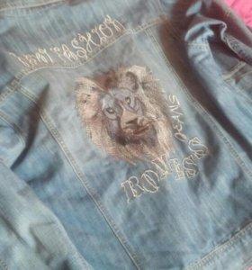 Джинсовая куртка, мужская