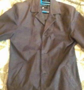 Пиджак кожаный производство италия