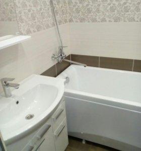 Ванная под ключ.плитка, сантехразвод.