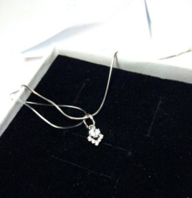 Подвеска серебро + фианиты