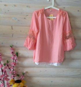 Новая блузка 48р