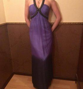 Платье фиолетовое длинное