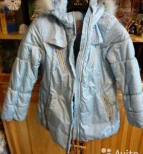 Зимняя куртка на 7-8лет.