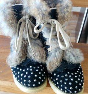 Ботиночки с натуральным мехом
