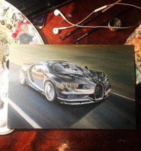 """Картина """"Bugatti Chiron"""""""