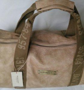 Спорт сумка 50 см Брендовая кожаная