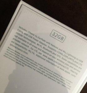 iPhone 5s 32gb silver новый