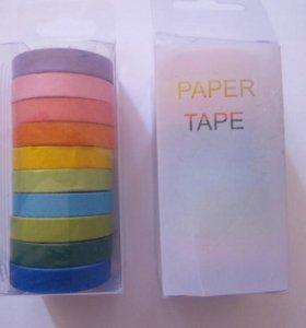 Цветной бумажный скотч.