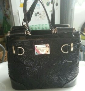 Кожаная сумка Dolce & Gabana