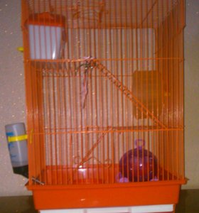 Клетка для грызунов , три этажа.