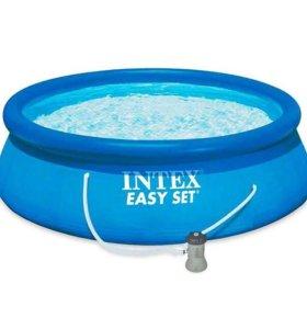 Бассейн Intex Easy Set, 366х76см + фильтр-насос