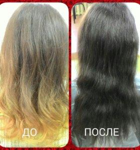 Окрашивание волос (любой сложности)
