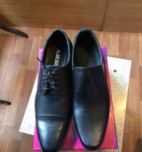 Классические новые кожаные туфли,недорого