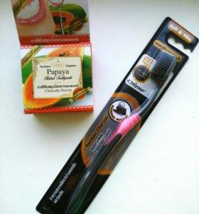 Набор зубная паста и щётка из Таиланда