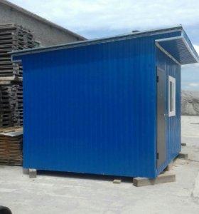 Новый теплый домик-вагончик 4×3м