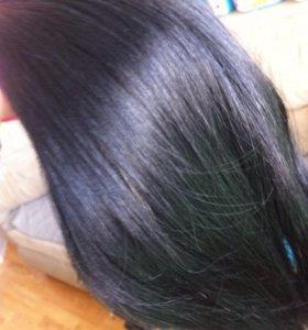 Волосы натуральный на заколках б/у