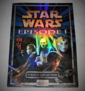 Star Wars Звёздные войны альбом для наклеек Merlin
