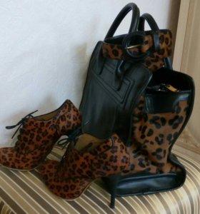 Ботильоны Paolo Conte, сумка Zara, ремень Mango